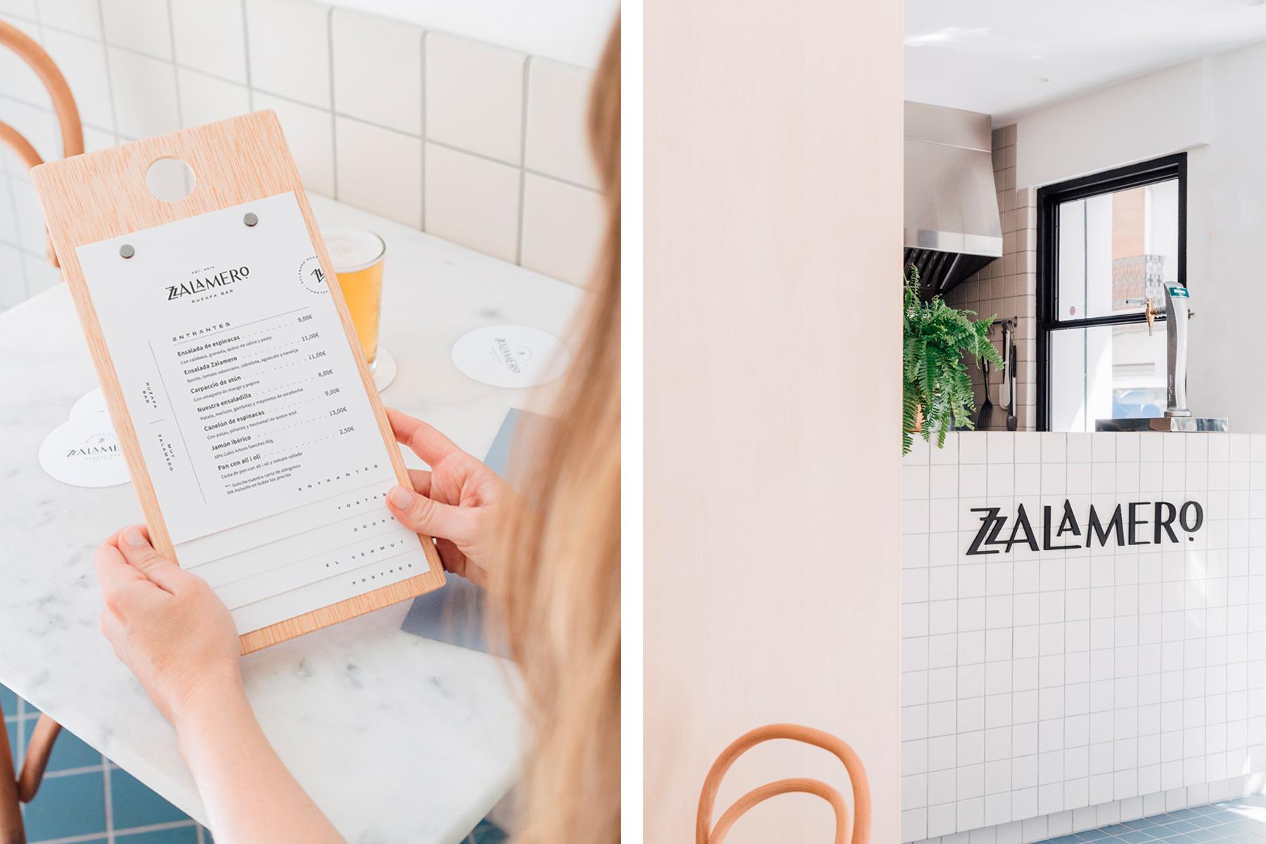 Diseño de branding para Zalamero Ruzafa Bar en Valencia