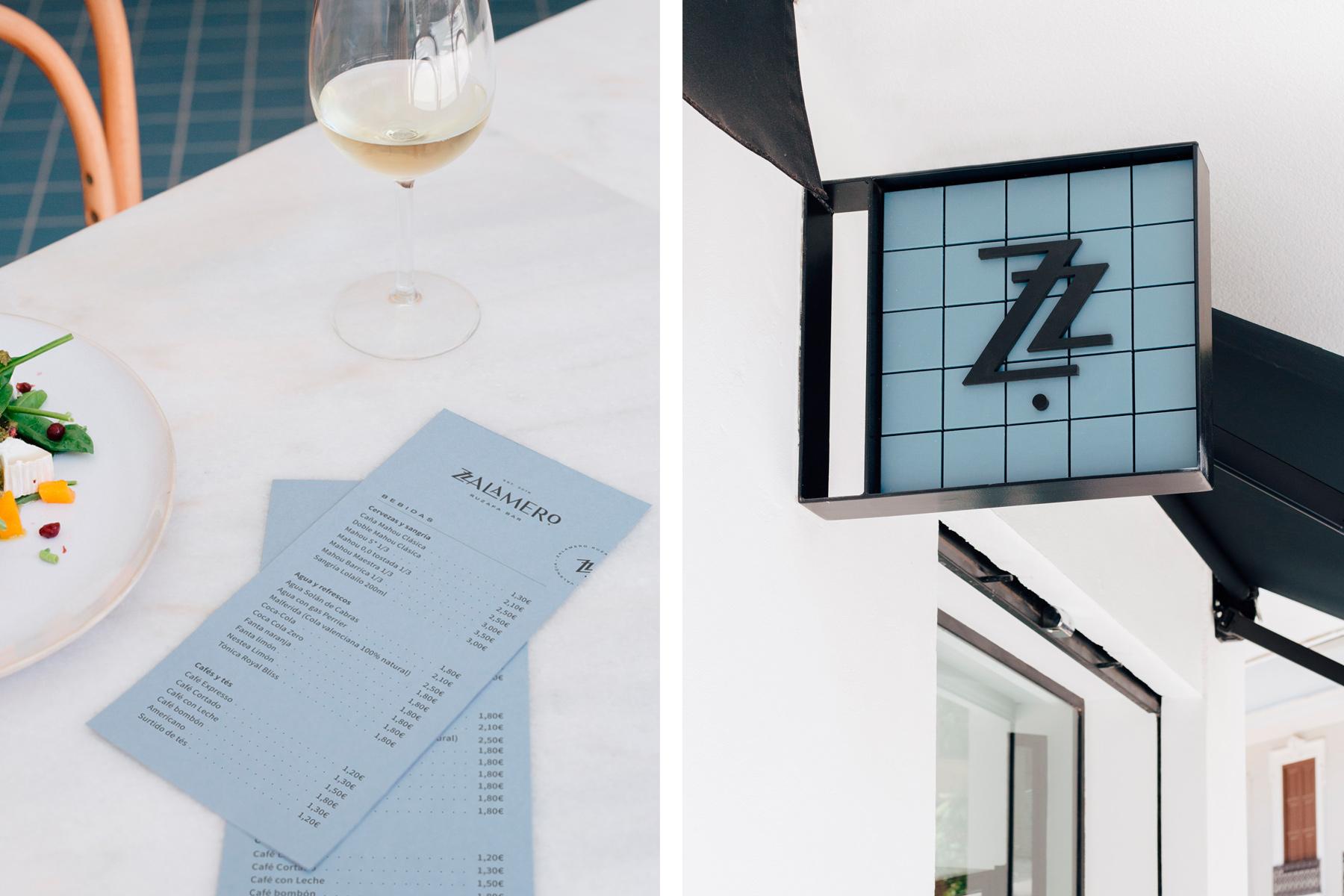 Diseño de carta bebidas para Zalamero Ruzafa Bar en Valencia