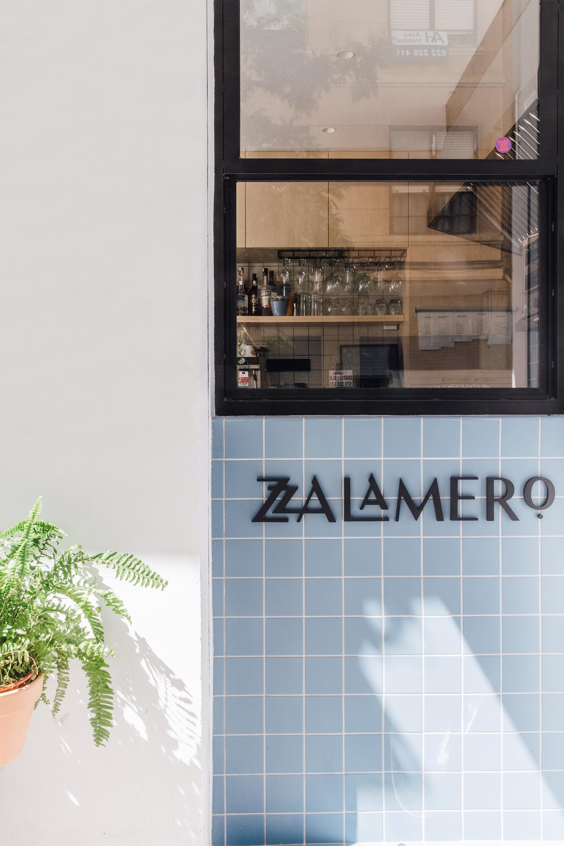 Diseño de cartelería para Zalamero Ruzafa Bar en Valencia